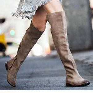 FRYE | Shirley Fatigue Oiled Suede Over Knee Boots